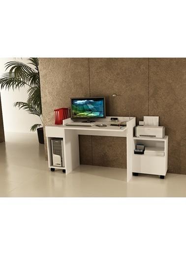 Sanal Mobilya Sirius 2 Dolaplı Çalışma Masası 90-Gk-Dk Beyaz